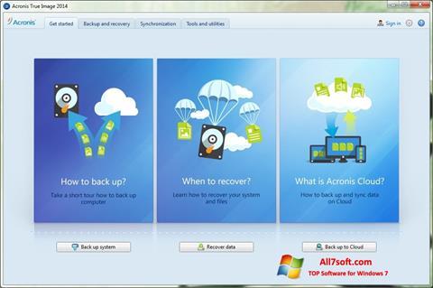 Captura de pantalla Acronis True Image para Windows 7