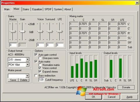 Captura de pantalla AC3 Codec para Windows 7