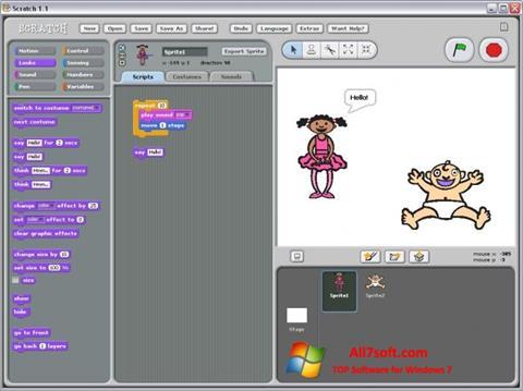 Captura de pantalla Scratch para Windows 7