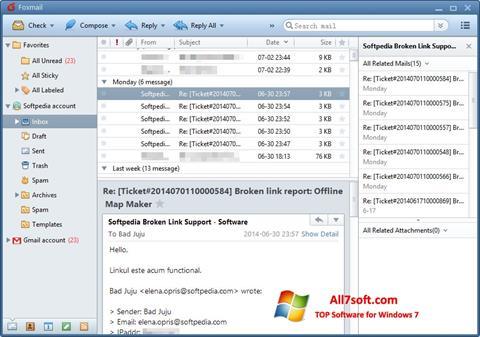 Captura de pantalla FoxMail para Windows 7