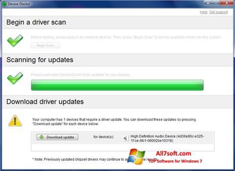 Captura de pantalla Device Doctor para Windows 7