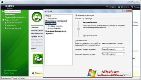 Captura de pantalla Outpost Firewall Free para Windows 7