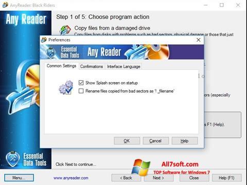Captura de pantalla AnyReader para Windows 7