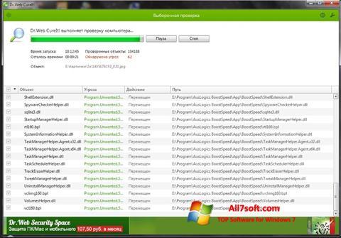 Captura de pantalla Dr.Web para Windows 7