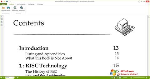 Captura de pantalla Hamster PDF Reader para Windows 7