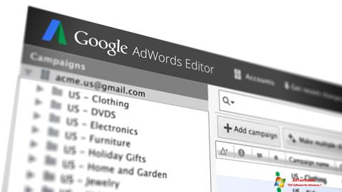 Captura de pantalla AdWords Editor para Windows 7
