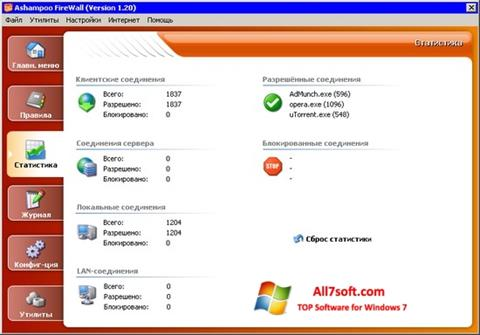 Captura de pantalla Ashampoo Firewall para Windows 7