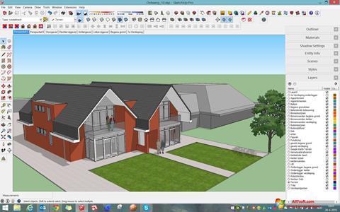 Captura de pantalla Google SketchUp para Windows 7