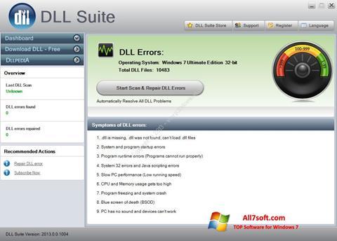 Captura de pantalla DLL Suite para Windows 7