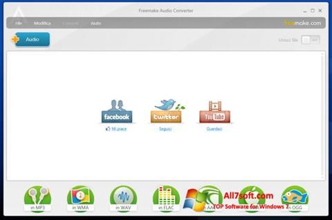 Captura de pantalla Freemake Audio Converter para Windows 7