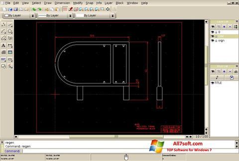 Captura de pantalla QCad para Windows 7