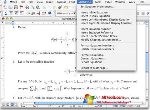 Captura de pantalla MathType para Windows 7