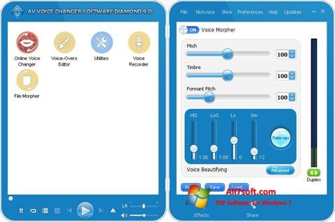 Captura de pantalla AV Voice Changer Diamond para Windows 7