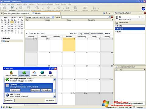 Captura de pantalla SeaMonkey para Windows 7