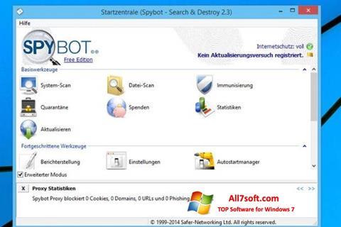 Captura de pantalla SpyBot para Windows 7