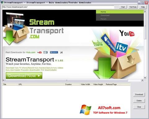 Captura de pantalla StreamTransport para Windows 7