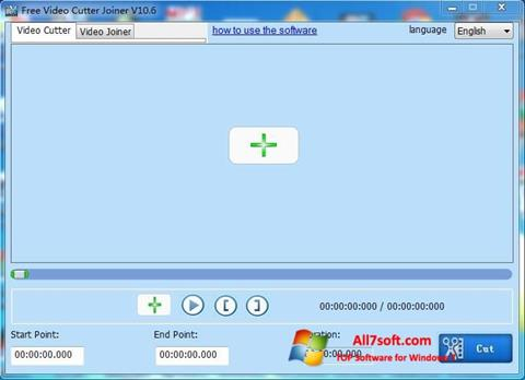 Captura de pantalla Free Video Cutter para Windows 7
