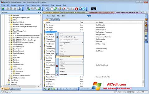 Captura de pantalla Remote Administration Tool para Windows 7
