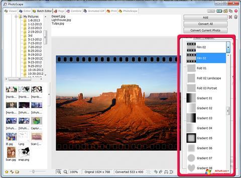 Captura de pantalla PhotoScape para Windows 7