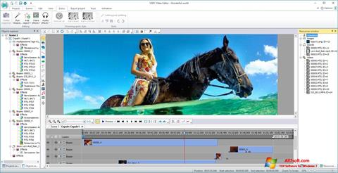 Captura de pantalla VSDC Free Video Editor para Windows 7