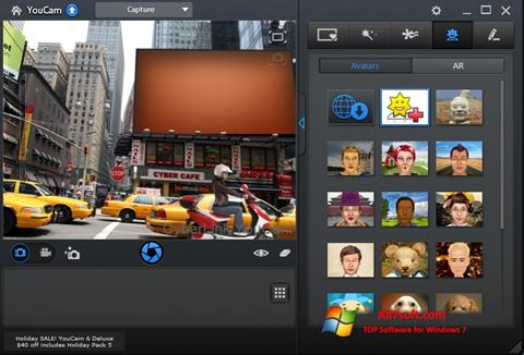 Captura de pantalla CyberLink YouCam para Windows 7