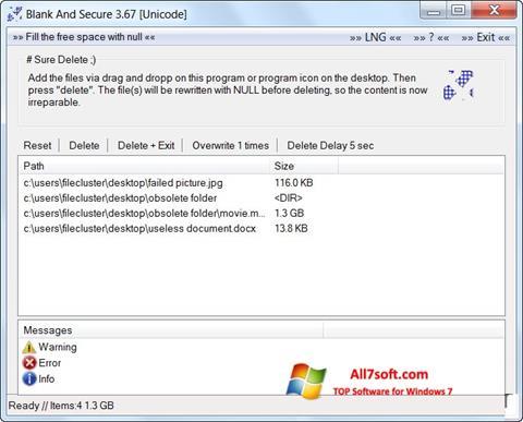 Captura de pantalla Blank And Secure para Windows 7